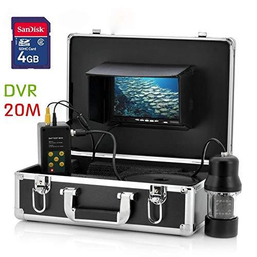(ZZKK 20M 7 inch TFT 360 Degree Rotation Camera DVR Recorder Underwater Fishing Camera System Video Fishing Camera)