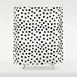 Pink and Purple Polka Dot Shower Curtain Huisfa Preppy Brushstroke Free Polka dots Black and White Spots dots Dalmation Animal Spots Design Minimal Shower Curtain 72 x 72 inches