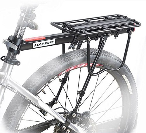 Acomfort 110 Lbs Capacity Adjustable Bike Luggage Cargo Rack Bicycle Accessories (Bike Rack Cargo Carrier compare prices)