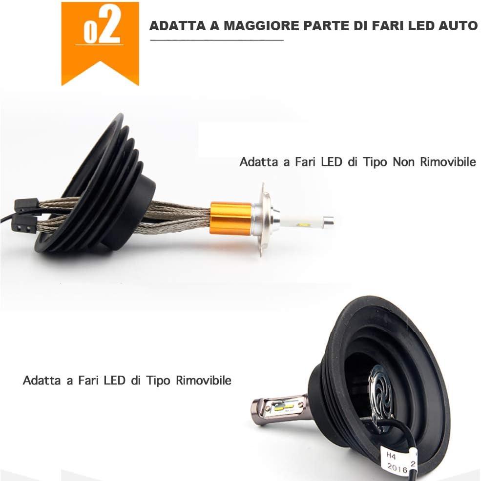 KINDAX 2 St/ück Staubschutz Scheinwerfer Auto Gummifu/ßkappen Universal f/ür LED Scheinwerfer geeignet f/ür Leuchtmittel H7 H4 H1 H11