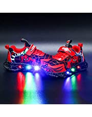 Kids LED Light Up Trainers Knipperende Schoenen Jongens Meisjes Spider Schoenen Casual Lichtgewicht Ademend Sneakers