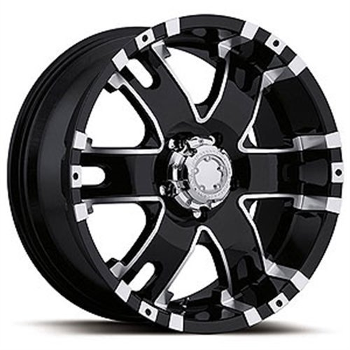 Ultra Wheel 202B Baron Matte Black Wheel with Painted (18 x 9. inches /5 x 150 mm, 25 mm Offset) (Baron Wheels)