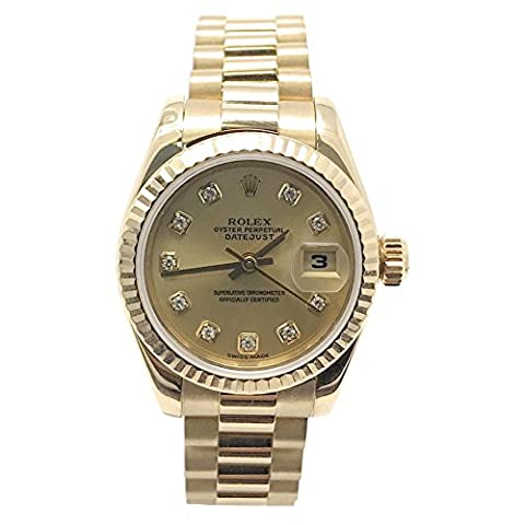 Rolex Datejust swiss-automatic womens Watch 179178 (Certified Pre-owned) (Rolex Color)
