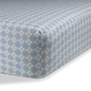 Fitted Knit Crib Sheet - Best Crib Sheet for Baby - Infant | Toddler 100% Cotton Jersey Knit Deep Fitted Bed Sheet (28  X 52  (STANDARD CRIB), Argyle Blue)