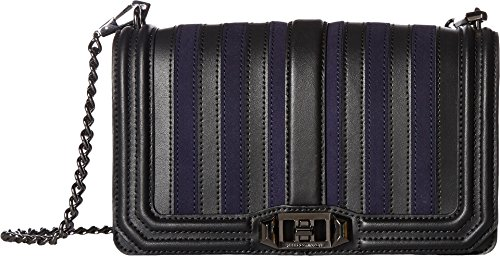 Rebecca Minkoff Women's Stripe Love Cross Body Bag, Moon, One Size by Rebecca Minkoff