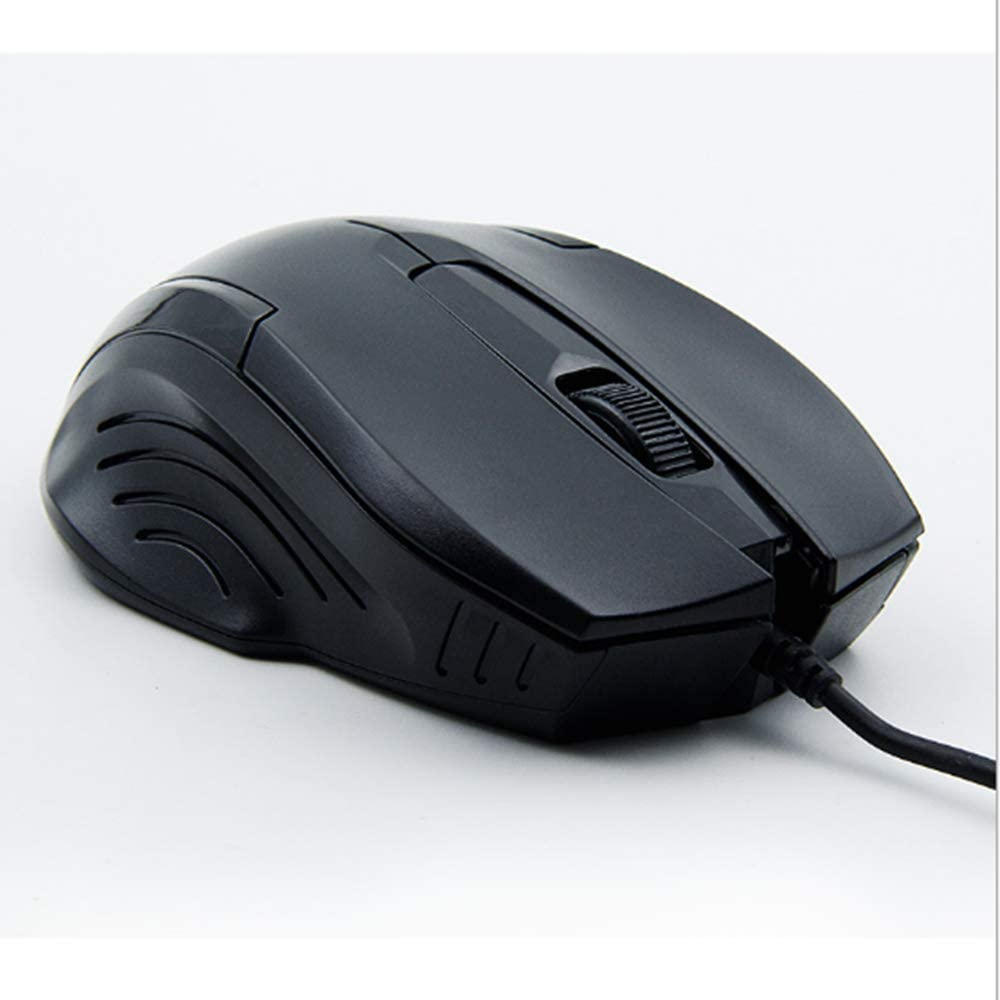 Fast Response and Durable Ergonomic Mouse PC Laptop LAIZI Wired USB Mouse Plug and Play, 4 Adjustable DPI Optical Mouse for Computer