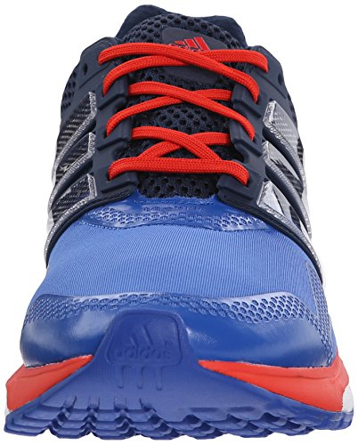 Chaussure De Course Adidas Boost 2 Techfit Bleu / Blanc / Orange Vif