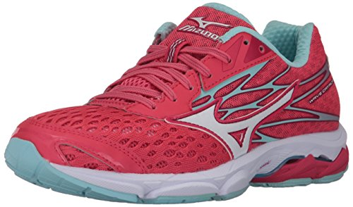 Mizuno Women's Wave Catalyst 2 Running-Shoes,Paradise Pink/White/Clearwater,10 B US ()