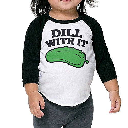 SH-rong Dill With It Kids Round Collar Tshirt Size5-6 -