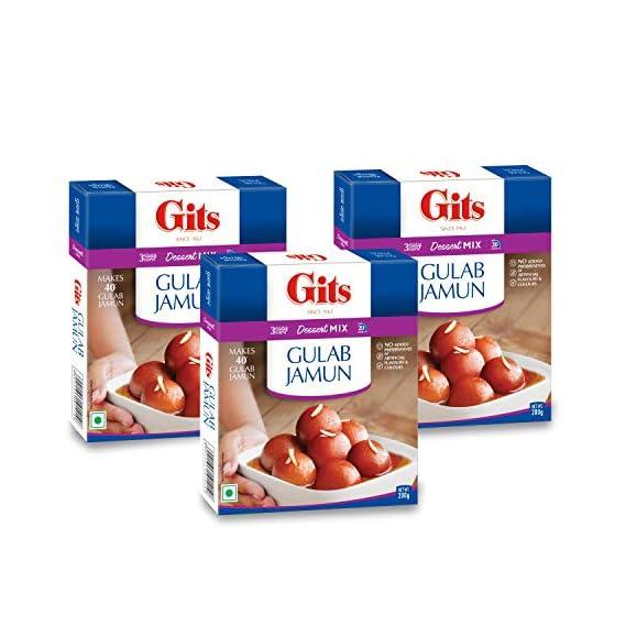 Gits Instant Gulab Jamun Dessert Mix, 200g (Pack of 3)
