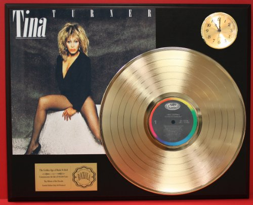 Tina Turner Private Dancer LTD Edition 24Kt Gold LP Record & Clock Display Quality Collectible from Gold Record Outlet