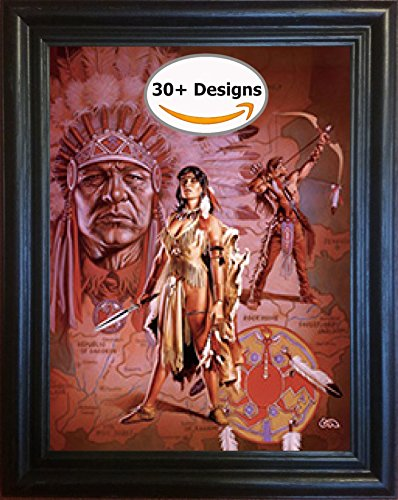 Native Dream Catcher Southwest 3D Picture Framed- Transitions Between Images - Unbelievable Life Like 3D Art Pictures, Lenticular Posters, Cool Art Poster, Unique Wall Art Décor by The 3D Art (3 D Pictures)