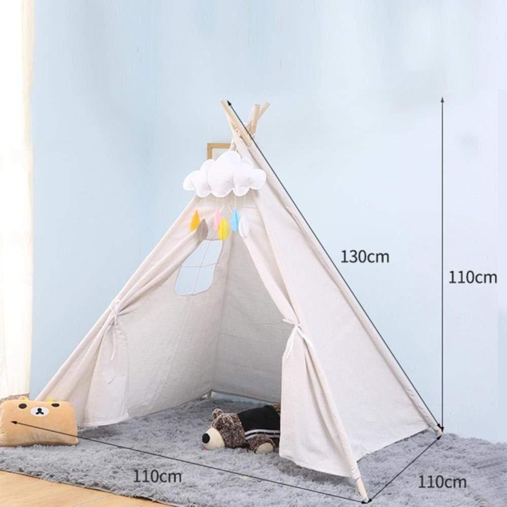 PAIZEP Carpa de Lona Grande de 1.3 m Carpa Infantil con Carpa dram/ática India Carpa Infantil Carpa para ni/ños T-Shirt Azul