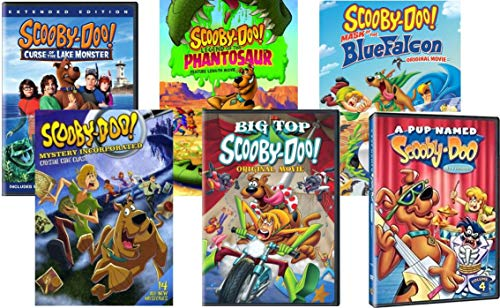 Scooby-Doo Collection 6-Movie Pack - Curse of the Lake Monster/ Legend of the Phantosaur/ Mask of the Blue Falcon/ Mystery Incorporated Season 1 Part 2/ Big Top Scooby-Doo/ A Pup Named Scooby-doo by