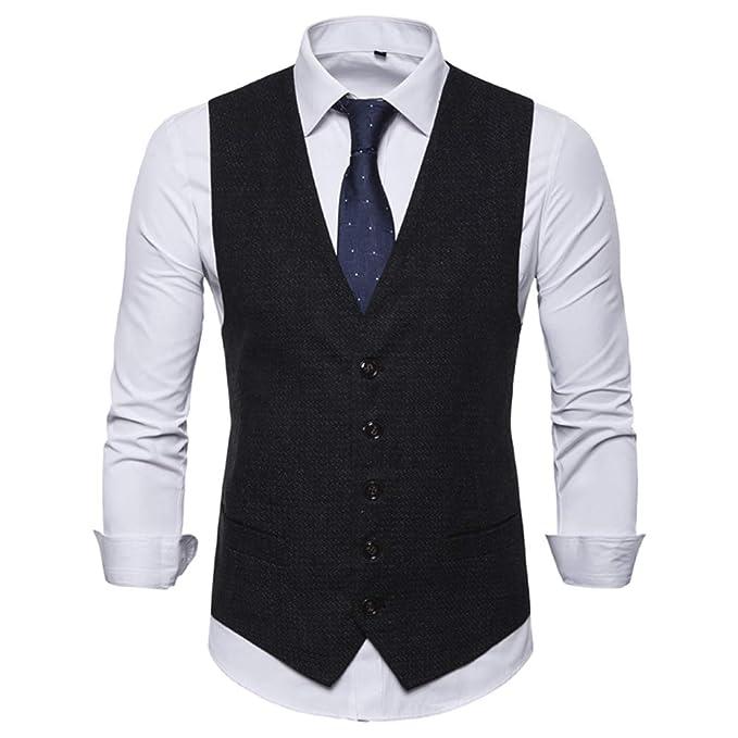 Amazon.com: JYG - Chaleco para hombre con diseño de ...