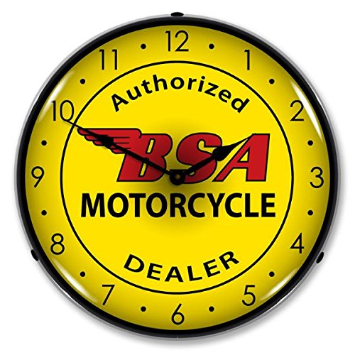 Cheap Collectable Sign and Clock 1008260 14″ BSA Motorcycle Lighted Clock