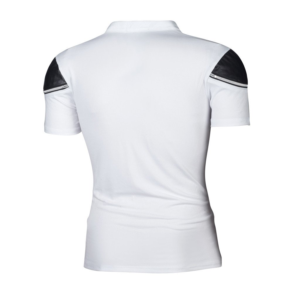 Mens The Perfect V-Neck T-Shirts Short-Sleeve Cotton Casual Slim Drawstring Patchwork Sports Top