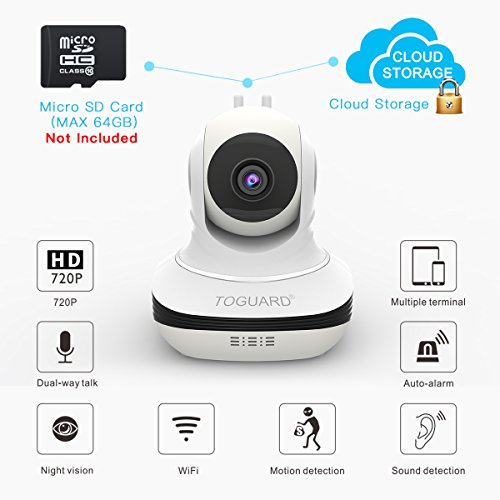 Wireless-Security-Camera-720P-HD-WiFi-Baby-Monitor-Home-Surveillance-IP-Camera-with-Night-Vision-PanTilt-Two-way-Talk-by-Android-iOS-App-Upgraded-Version