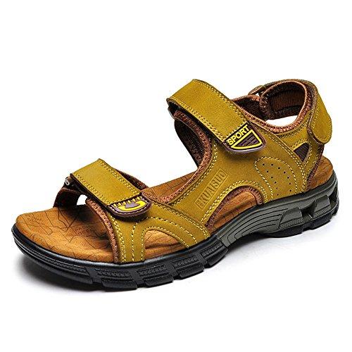 Casual Outdoor Uomo Pantofole Scarpe Morbido 5 Spiaggia Cachi CN42 Cachi HUO Da Movimento Fondo UK7 EU41 Sandali 8 Moda Estate Colore Cachi dimensioni Marrone FqIYXnw