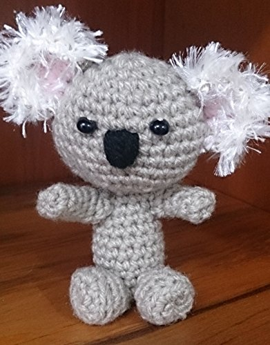 (Koala Bear Crocheted Soft Toy. Baby Koala Amigurumi Doll)