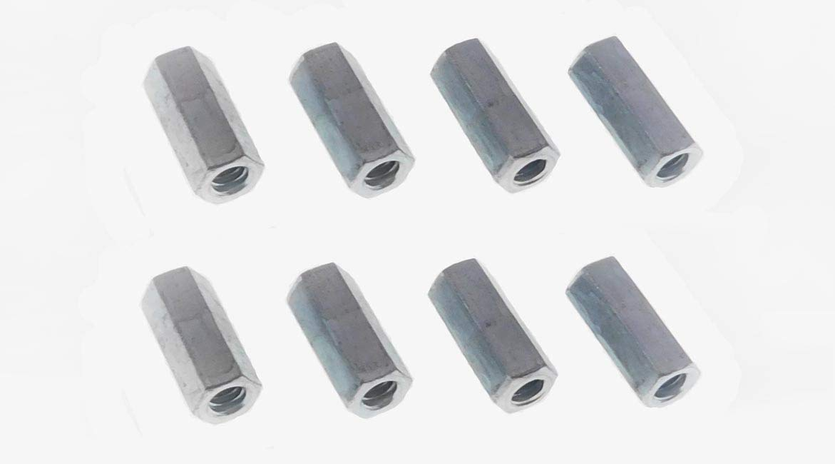 """12 Pack 5//16-18 X 1-3//4/"""" Long Hex Coupling Nut with Zinc Plate NCUP005C000STLZN"""