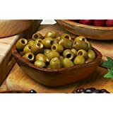 Sicillian Green Pitted Olives Imported from Italy - 1 X 11 Lb