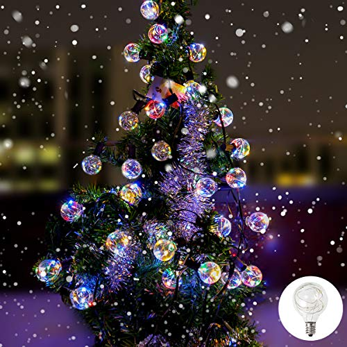 B-right Outdoor String Lights, 33ft G40 Globe String Lights for Patio, Decorative Christmas String Lights with Remote Control (Multicolor)