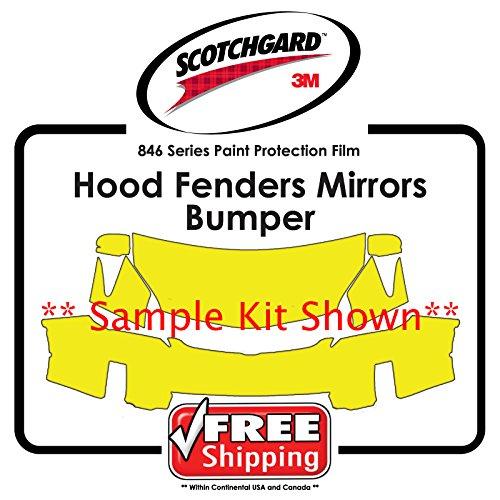 ALL CARS - 3M Scotchgard 846 Series - Hood Fender Tips Mirrors Bumper Paint Protection film kit