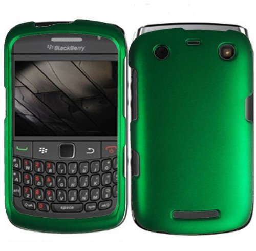 Importer520 Dark Green Rubberized Protector Case for BlackBerry Apollo Curve 9350 9360 9370 ()