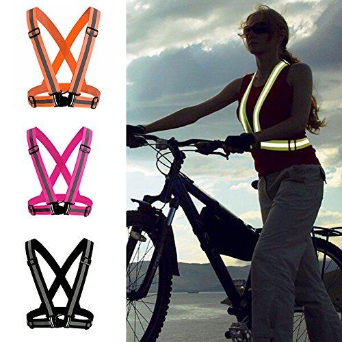 Fluorescent Cinghie Capodanno Con Rycnet Elastiche Ideale Sicurezza E Regalo Orange Come Riflettenti Regolabili Di Giubbotto IBBwZqfxO