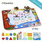 Doodle Drawing Mat, Conthfut Water Doodle Mat 39.5' X 27.5' in 9 Colors Aqua Magic Mat Educational Toys for Boy Girl Toddlers Age 1- 12