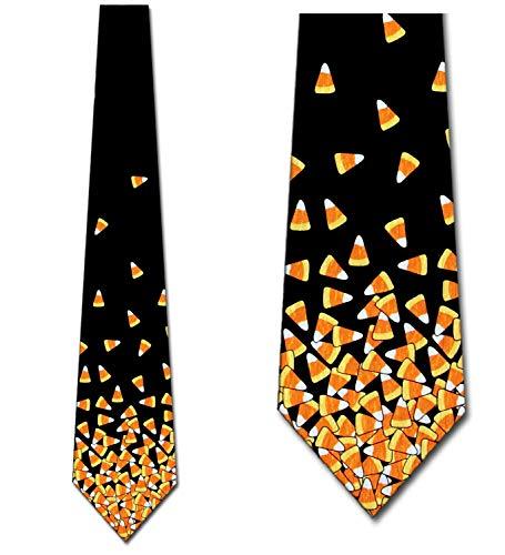 Mini Candy Corn Necktie by Ralph Marlin - Mens Halloween Necktie -