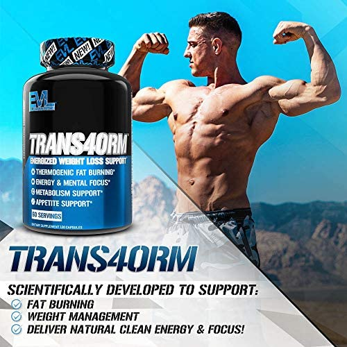 Evlution Nutrition Trans4orm - Complete Thermogenic Fat Burner for Weight Loss, Clean Energy and Focus with No Crash, Boost Metabolism, Suppress Appetite, Diet Pills (60 Servings) 4