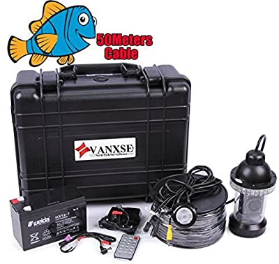 "Vanxse® Underwater Fish Camera System 7"" TFT LCD Sony CCD 800tvl Hd Underwater Video Camera Fish Finder 360 Degree View, Remote Control fishing view camera (50Meters Cable)"
