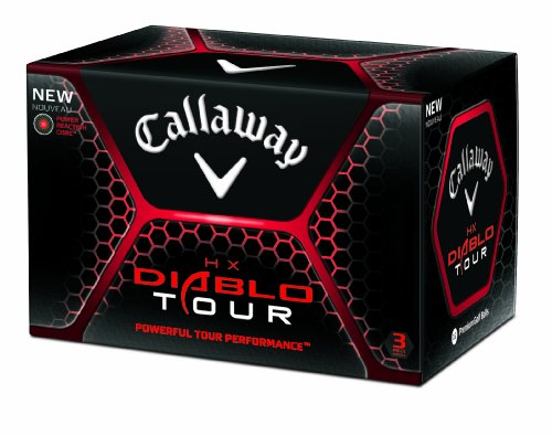 Callaway HX Diablo Tour Golf Balls (12 Pack, White), Outdoor Stuffs