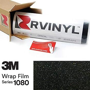 3M 1080 GP292 Gloss Galaxy Black 5ft x 6ft W/Application Card Vinyl Vehicle Car Wrap Film Sheet Roll