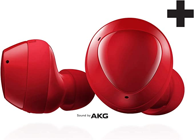 Amazon Com Samsung Galaxy Buds Plus True Wireless Earbuds Wireless Charging Case Included Red Us Version