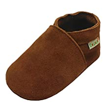 Sayoyo Baby Soft Sole Prewalkers Baby Toddler Shoes Cattle cashmere Brown Shoes