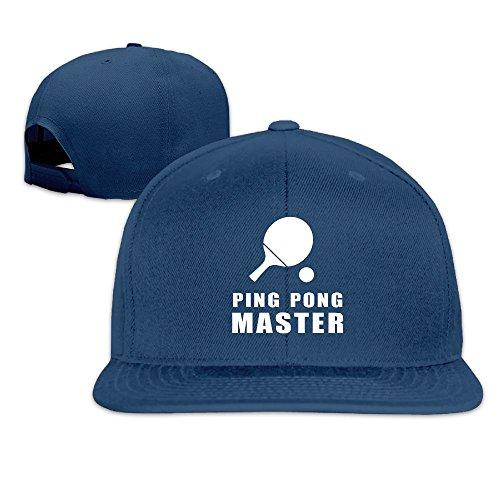 - Joapron Ping Pong Master Unisex Causal Fitted Flat Bill Baseball Cap Navy