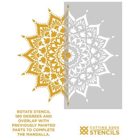 Mandala Stencil Radiance - Trendy Easy Beautiful DIY Wall Stencil Designs - Reusable Stencils for DIY Home Decor - By Cutting Edge Stencils (44'') by Cutting Edge Stencils (Image #9)