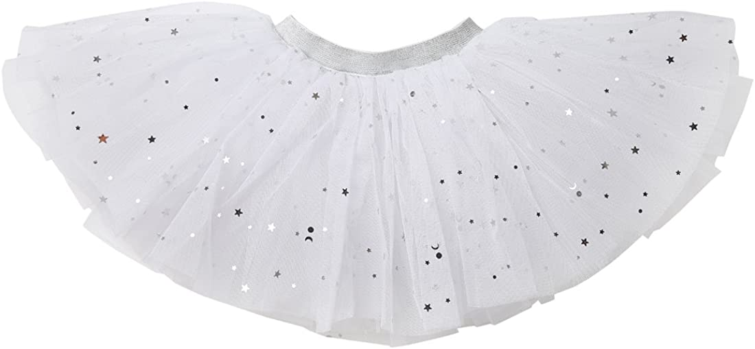 WGOODTECK Newborn Infant Baby Girls Super Soft Glitter Sparkle Tulle Tutu Skirt /…