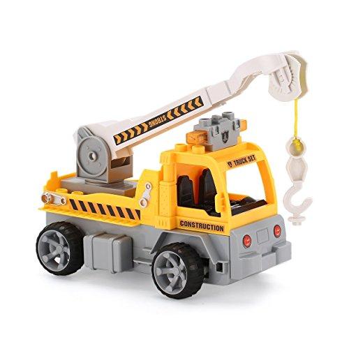 1/18ビルディングブロックエンジニアクレーンRCトラック車?レンガ教育贈り物おもちゃ