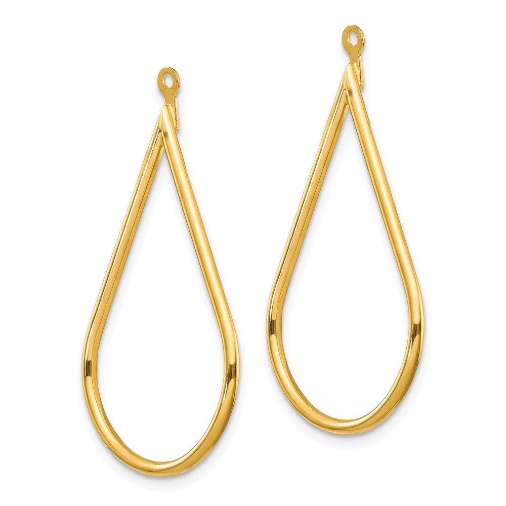 Mia Diamonds 14k Yellow Gold Polished Teardrop Earring Jackets