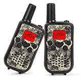 Walkie Talkies for Kids, 22 Channel Walkie Talkies 2 Way Radio 3 Miles (Up to 5Miles) Handheld Mini Walkie Talkies for Kids, Toys for 5-Year Old Boys and Girls, Ideal Present for Children