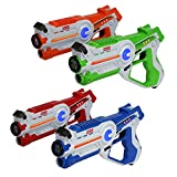 Kidzlane Infrared Laser Tag : Game Mega Pack - Set of 4 - Infrared Laser Gun Indoor and Outdoor Group Activity Fun. Infrared 0.9mW