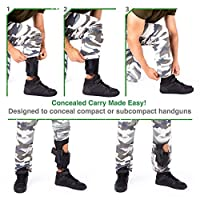 Ankle Holster for Concealed Carry | Adjustable Ankle Holster w. Strong Hoop&Loop for Men and Women - Ankle Holster for Glock 43 42 36 26 19, Smith&Wesson M&P Shield Bodyguard,Ruger LCP LC9, Sig Sauer