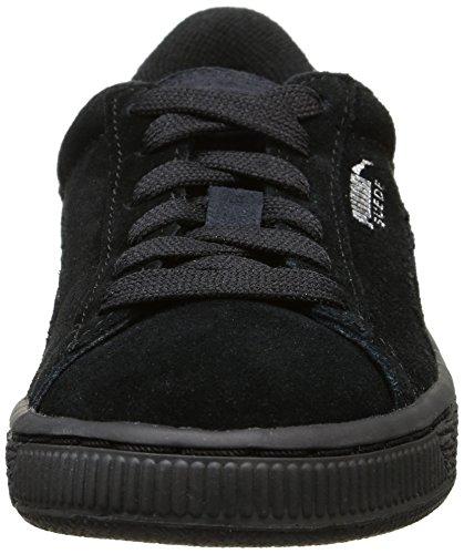 Mixte Enfant Noir Suede Silver Basses Puma Baskets Black Jr gwAqxIX