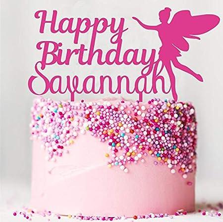 Decoración para tarta de hada de feliz cumpleaños ...