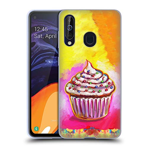 Official Howie Green Cosmic Cupcake Food and Drinks Soft Gel Case Compatible for Samsung Galaxy A60 (2019)