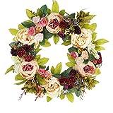 Emlyn Large Blooming peonies Hydrangea wreath Door Wreath - Best Seller - Handcrafted Wreath for home wall decor
